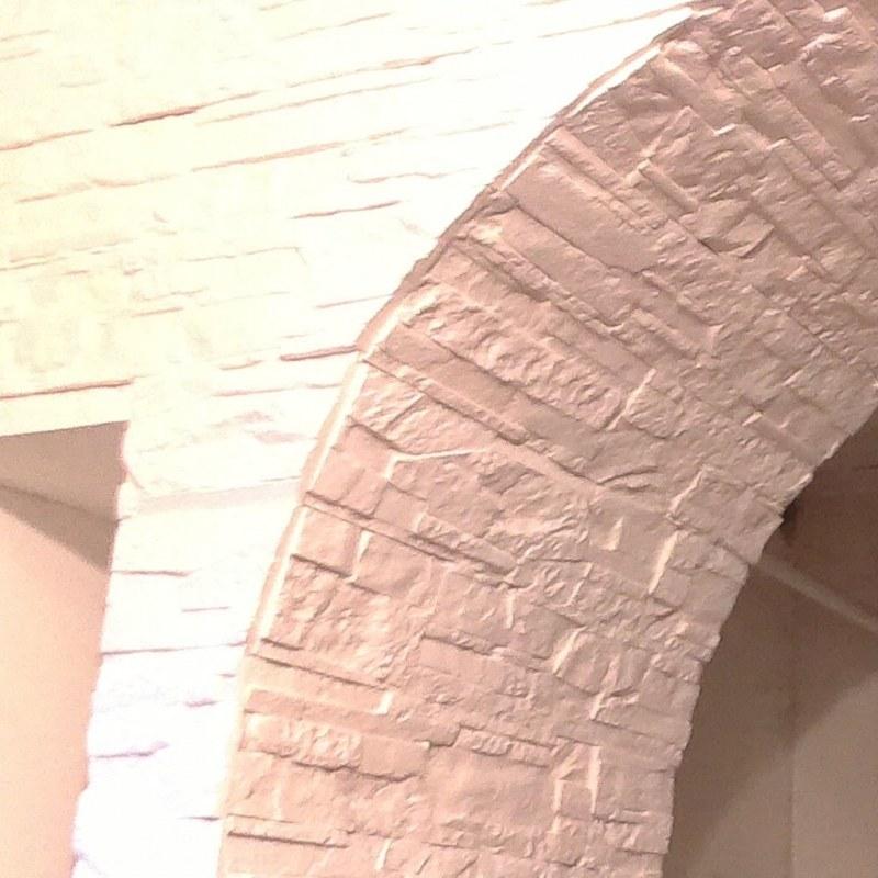 Декоративный камень сланец «Рифейский» не крашенный(белый)