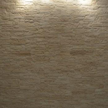 Декоративный камень сланец «Рифейский»  крашенный(цвет травертин)